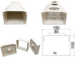 Zip Groتنمو البرج Hydroponic الغواتر PVC PVC PVC الغلايات الخضراء الغولازية المادة