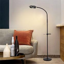 Éclaireur de sol à LED avec étagères/Bac Table, Lampe permanent avec ventilateur, salle de séjour un éclairage lumineux