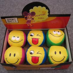 Beísbol con pelota blanda del PVC de la dimensión de una variable del béisbol del diseño de la cara de la sonrisa