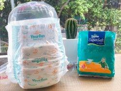 Fraldas para bebés grossista protetor de vazamento de superfície suave e seco cuidar do bebê pequeno tamanho