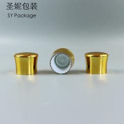 UV 28mm color oro corona forma botella de plástico tapas de rosca