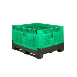 krat van het Fruit van de Doos van de Pallet van 1200*1000*760mm het Op zwaar werk berekende Opvouwbare Plastic