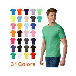 Vêtements en coton T-shirts unisex de base imprimés promotionnels personnalisés OEM Logo Plain Blank – Tee-shirt pour Homme
