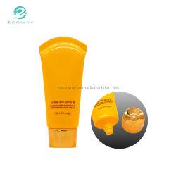 Venda por grosso de alumínio Tubo Recolhível Embalagem Creme para as mãos do tubo com gold plating Pac