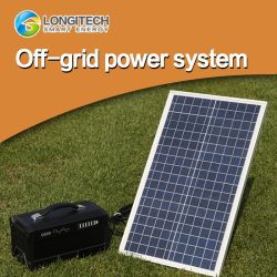 Netzabschaltbare Solaranlage 78ah 300W AC/DC Lithium-Batterie (Poly-Si 100W) 2 Sonnensystem Solarenergie