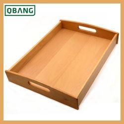 Лоток для древесины из бамбука кофе поднос фруктов посуда