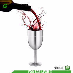 Premium стекло вина из нержавеющей стали с крышкой