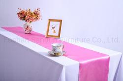 Color rosa popular mantelería de lino para el caso de planificación de banquete de boda