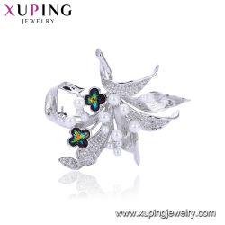 方法ベストセラープラチナによってめっきされる女性の水晶宝石類のブローチ