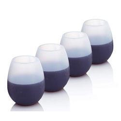 Capa de silicone queda Non-Slip portátil para Sumo de vinho e cerveja de Cola Copa churrascos Copa do vinho de Viagem