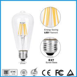 Économies d'énergie Ampoule de LED ST64 A60 C35 G80 T45 2W 4W 6W 8W spirale souple pour la salle de séjour
