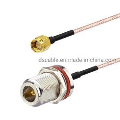 N тип женщин герметичный крепление щитка передка SMA мужской Rg316 кабелем для подключения кабеля