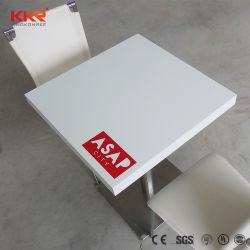 Surface solide Logo personnalisé Tables et chaises de salle à manger en marbre