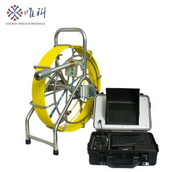 Nivel de autonomía de 40mm tubo de drenaje de la cloaca de la imagen de la Cámara de inspección con 60m de cable