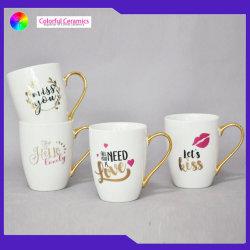 Pega Electroplate de porcelana de alta qualidade caneca de café a capa do Dia dos Namorados Amor canecas