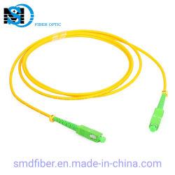 Sc simplex / APC Sc/APC G652D Cable de fibra óptica monomodo Cable de conexión