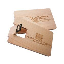 بطاقات خشبية ذاكرة USB بطاقات OEM Wood Card USB Flashdrive