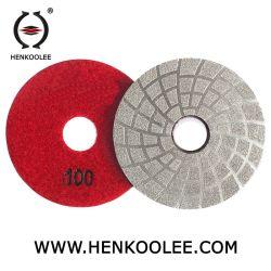 Вакуумный спаяны полировка накладки для конкретных гранита мрамора шлифовка