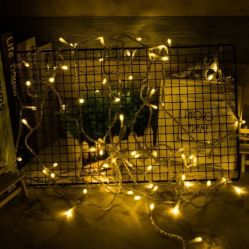 Lámpara de LED de bajo voltaje de seguridad de la cadena 24V impermeable al aire libre las luces de color cobre
