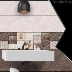 Beige poli rustique en bois en céramique émaillée marbre artificiel Art Decoration Wall Tile 300*600