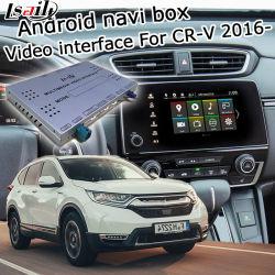 Lsailt Android GPS Navigationssystem für Honda Cr-V 2016- etc Videoschnittstelle mit Carplay Rückansicht Yandex Navi Waze etc