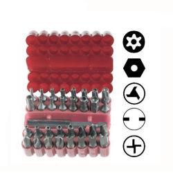 33PCS Reeks van de Bit van het Bewijs van de Stamper van de Veiligheid van de Houder van de schroevedraaier de Magnetische