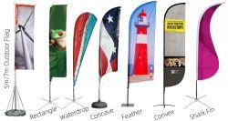 Staatsflaggen mit Firmenzeichen-im Freienmarkierungsfahnen-Gewebe