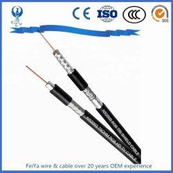 2 ОСНОВНЫХ RG6 RG59 аудио видео CCTV сиамских безопасности коаксиальный кабель RG59 + 2c с питание постоянного тока 0,75 мм2/0.5мм2 коаксиальный Combo мультимедиа