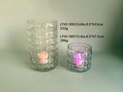 Handblown Tealight portavelas de vidrio/