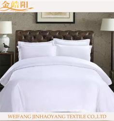 Rifornimento stabilito 100% dell'hotel di Satain dell'assestamento bianco normale del cotone per la tela di tela dell'ospedale dell'hotel
