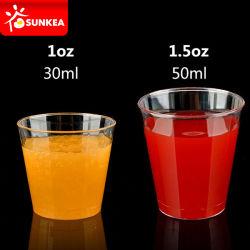 1oz 1.5OZ PS Degustação de plástico / Shot Cup, a Copa de avião