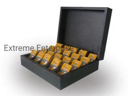 수공예 및 독점 목재 피라미드 티 백 상자
