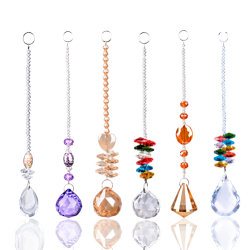 Unterschiedlicher Entwurf 6 KristallSuncatcher Prisma Fengshui Verzierung-Leuchter, der hängenden Beleuchtung-Kugel-Hochzeits-Ausgangsdekor hängt