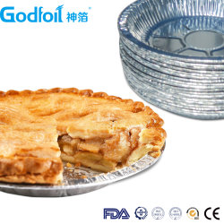 Раунда одноразовые алюминиевую фольгу пекарня круговой диаграммы контейнер одноразовый поддон круговой диаграммы