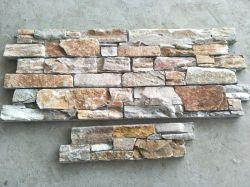 Pedra natural quartzito amarelo / Cultura ardósia pedra para a decoração de paredes