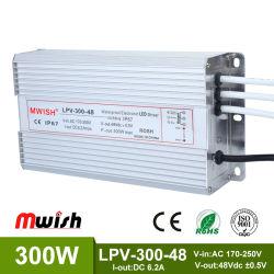 300W étanche Driver de LED d'alimentation de puissance de commutation (-300-48 MWISH LPV)