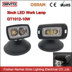 10W phare de travail Mini LED Feu de conduite, 4X4 3pouce