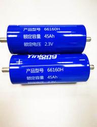 De snelle het Laden Batterij van Yinlong Lto 2.3V 66160h 45ah 10c Lto van de Batterij Lto voor de Audio van de Auto