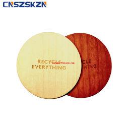 ISO14443RFID pasiva/ISO15693 Un disco de madera Tarjeta Tags