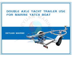 De Aanhangwagen van de Boot van de As achter elkaar voor Mariene Boot Yatch