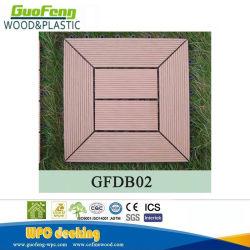 유럽 표준 품질 솔리드 UV 차단 목재 합성 인터락 WPC DIY 바닥재 타일