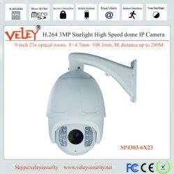 Zoom óptico 23X Dahua Inclinación IP DOMO PTZ Speed