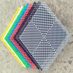 Bague creuse des trous de drainage de vidange de l'eau de pluie de maillage Zone humide les rouleaux en plastique PVC Runner Tapis Tapis de plancher de carrelage de sol en vinyle