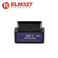 Hot Sale Neues schwarzes Mini WiFi Elm327 OBD2 Auto Auto Diagnostic Scan Tool Mini Elm 327 WiFi für iPhone für iPad für iPod/Android