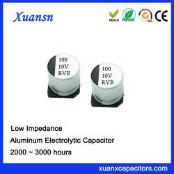 100UF 10V 고주파 SMD 알루미늄 전해질 축전기