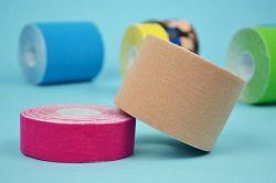 Nastro elastico di sport del nastro di Kinesio di cinesiologia di sport impermeabili del cotone