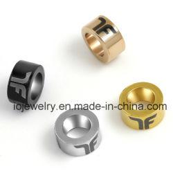 Custom métal gravée or 18K / Or Rose / Silver / tons de noir Bracelet charm perle