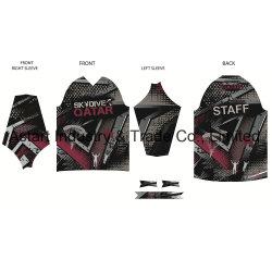 Haut de gamme de vêtements de cyclisme OEM Jersey Mx/T-shirts de sport MTB violet