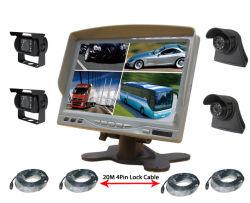 7pulgadas Quad Split copia de seguridad de la cámara trasera del monitor de coche