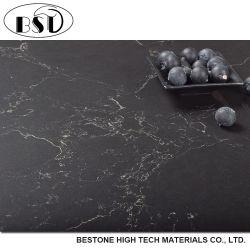 Hoogste Countertop van het Kwarts van de Groothandelsprijs Marquino van het Niveau Zwarte Kunstmatige